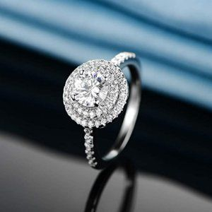 White Gold Plated Cubic Zirconia Wedding Ring